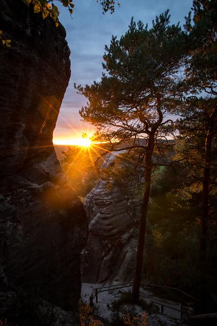 Sonnenuntergang am Gamrig