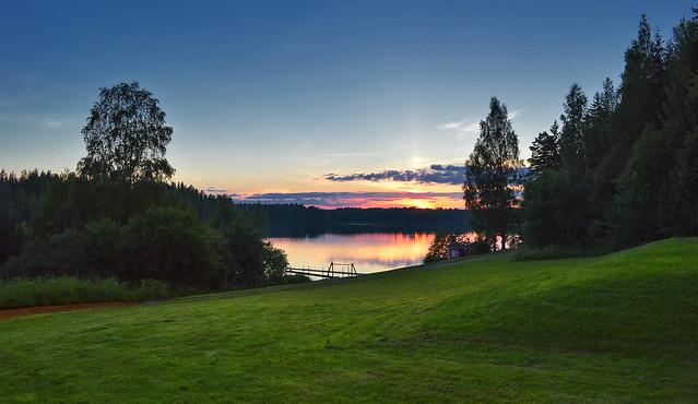 After sunset. Summer. Finland