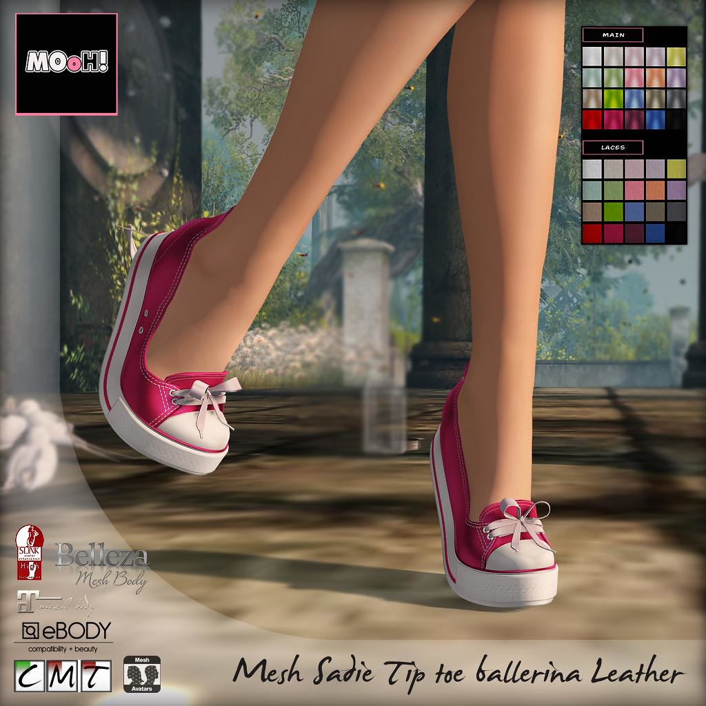 Sadie tip toe ballerina leather - SecondLifeHub.com