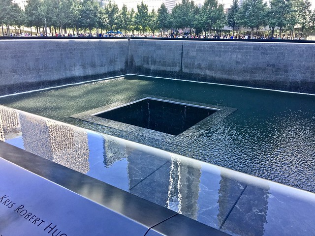 South Tower Reflecting Pool, Apple iPhone 6 Plus, iPhone 6 Plus back camera 4.15mm f/2.2