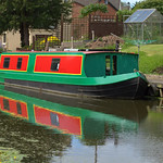 Boat on the canal at Preston