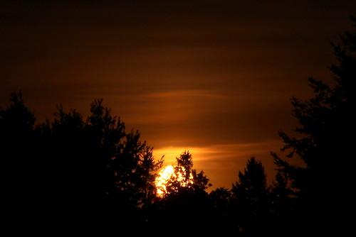sunsettime crabtreeoregon deepaugust sun sundown dark dusk sky