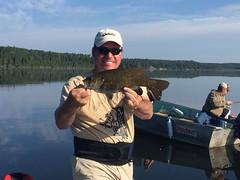 Late July fishing on Perrault Lake