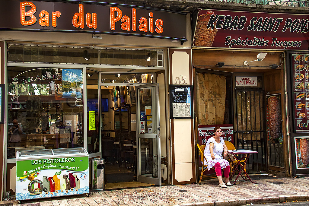 Bar du Palais and kebab joint--Saint-Pons-de-Thomières