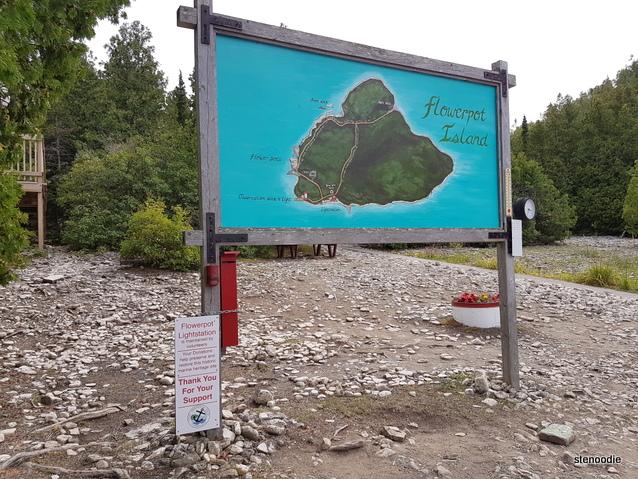 Flowerpot Island map