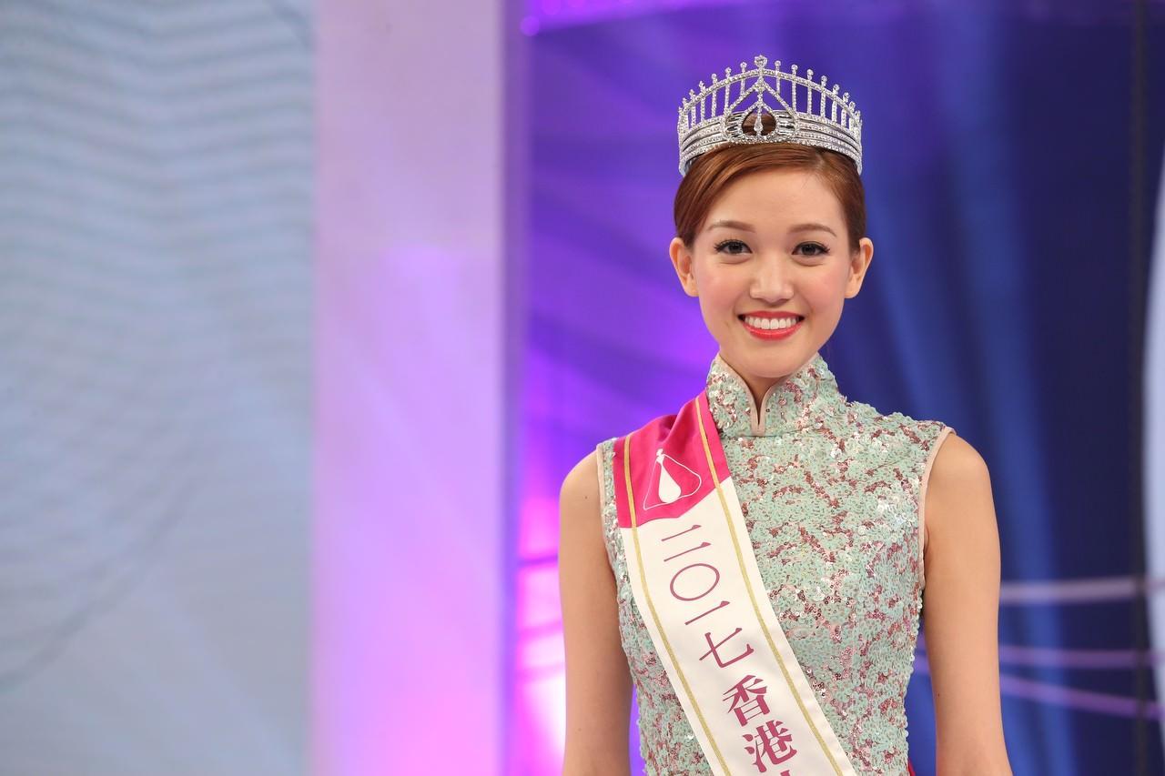 2017年度香港小姐季軍黃瑋琦。(資料圖片/黃國立攝)
