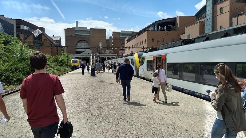 Louvain-la-Neuve station near Brussels