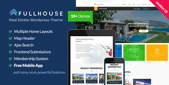 FullHouse v1.1.0 – Real Estate Responsive WordPress Theme
