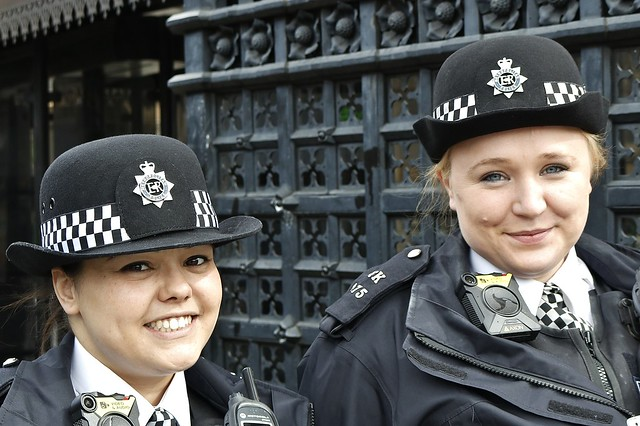 Police Officers at the Houses of Parliament, Westminster, London.....
