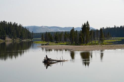 Yellowstone - view from fishing bdrige