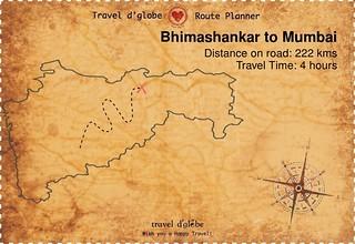 Map from Bhimashankar to Mumbai