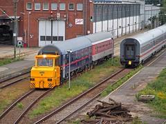 Berlijn, Warschauerstrabe Spoorwegwerk werkt