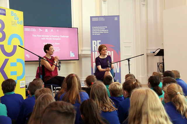 First Minister Nicola Sturgeon - schools event