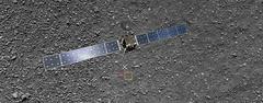 Rosetta's landing site to scale
