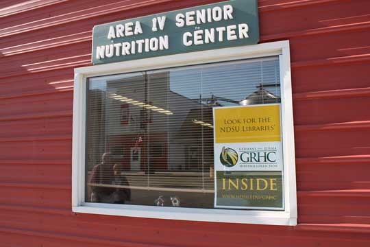 The GRHC's booth was located inside the Bowdle Senior Center.