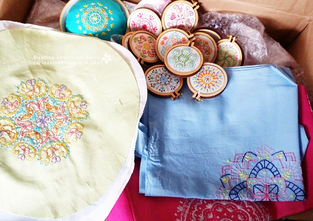 Book materials  - Mandalas to Embroider