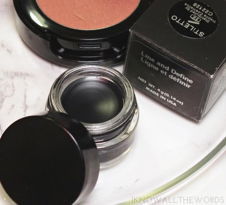 Inspire cosmetics line and define gel liner in stiletto