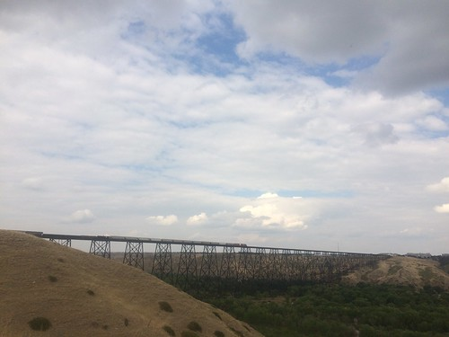 Lethbridge Trestle with train