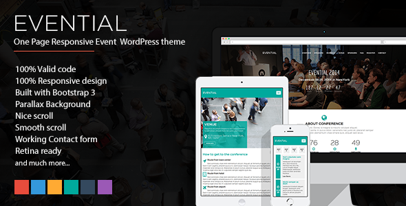 Evential v1.4 – One Page Responsive Event WordPress Theme