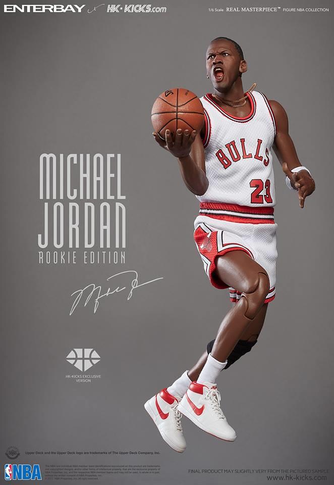 ENTERBAY × HK-KICKS【麥可.喬丹新秀球季主場版】Michael Jordan Rookie ver. 1/6 比例人偶作品