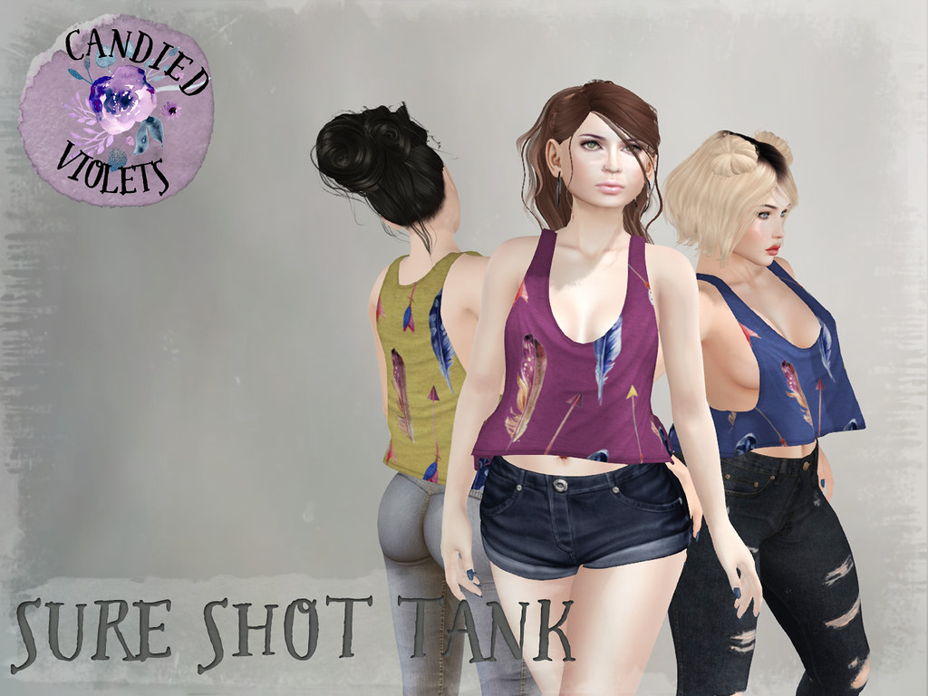 .:Candied Violets:. Sure Shot Tank - SecondLifeHub.com