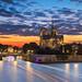 Notre Dame & Sunset by Luís Henrique Boucault