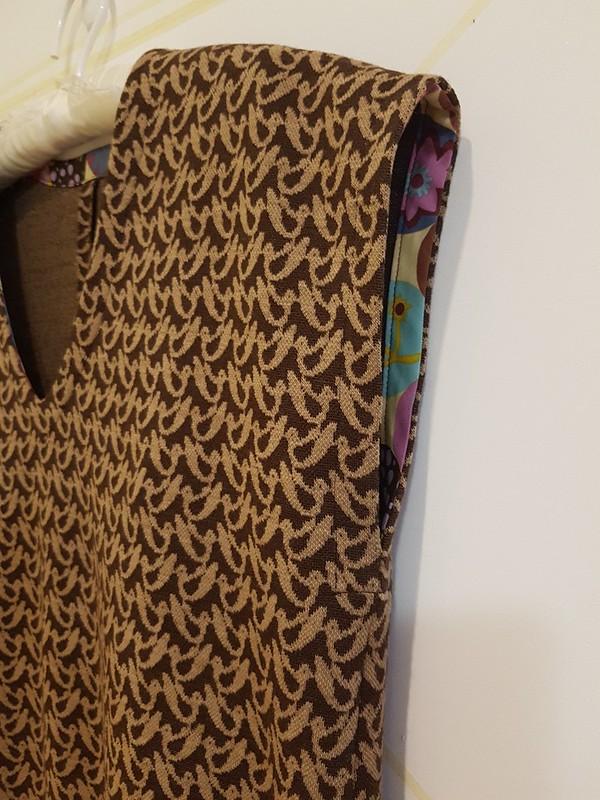 True Bias Lodo dress in knit wool jacquard
