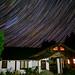 Star trails over the farm by Mark.AG.Elliot