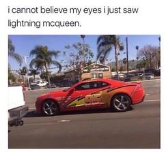 Oh my god! 😂😂😂  #lightningmcqueen #cars #memes #funny #wednesday