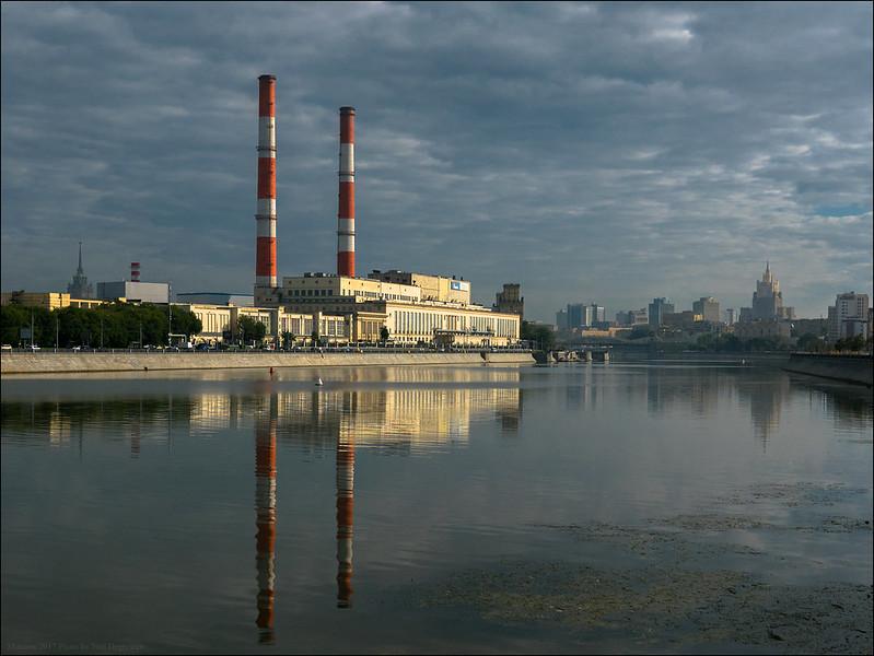 Russia. Moscow. Berezhkovskaya embankment. Cogeneration plant №12.