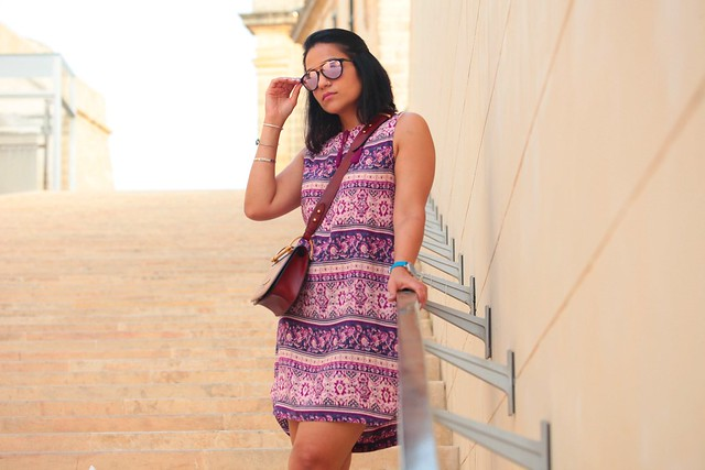 Printed Tunic Dress Tanvii.com