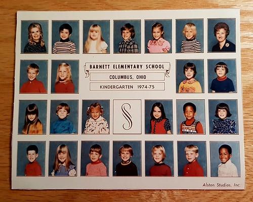 Kindergarten class, Barnett Elementary School, 1974-1975.