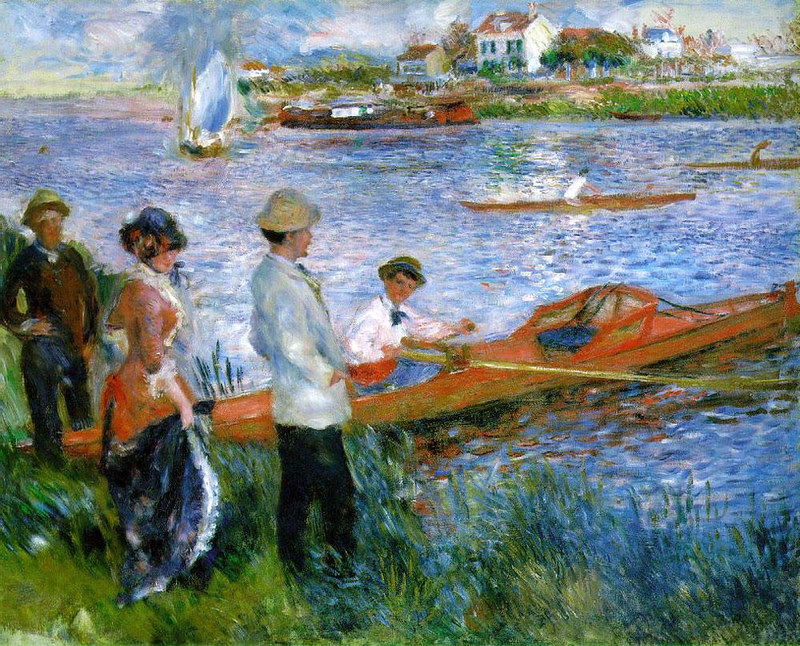 Oarsmen at Chatou by Pierre Auguste Renoir, 1879