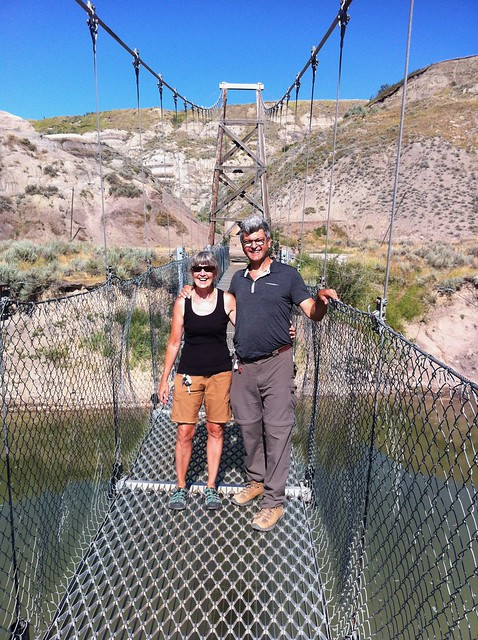 Drumheller suspension bridge