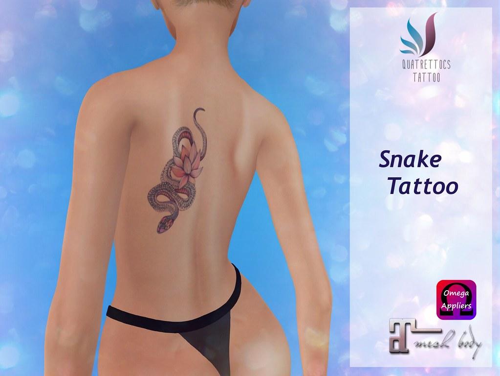 Snake Tattoo - at Back - SecondLifeHub.com