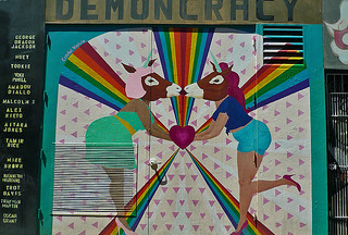 Mural in the City - Clarion Alley Democracy
