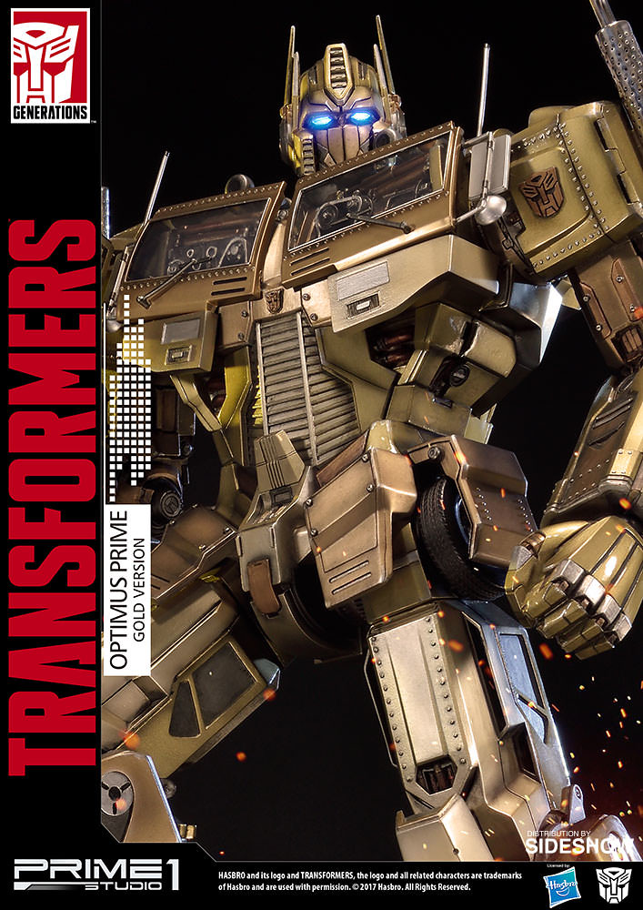 Prime 1 Studio 變形金剛【柯博文 金色版】Transformers Generation One Optimus Prime Gold Version 全身雕像作品