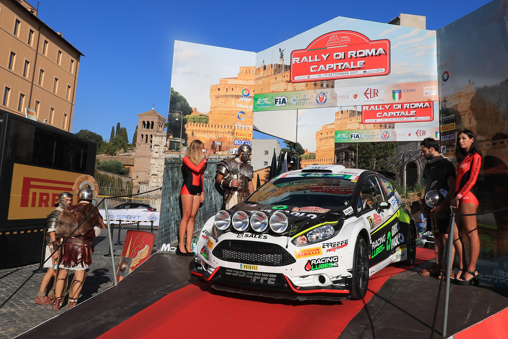17 CONSANI Stephane (FRA) SALMON Valentin (FRA) Ford Fiesta R5 start during the 2017 European Rally Championship ERC Rally di Roma Capitale,  from september 15 to 17 , at Fiuggi, Italia - Photo Jorge Cunha / DPPI
