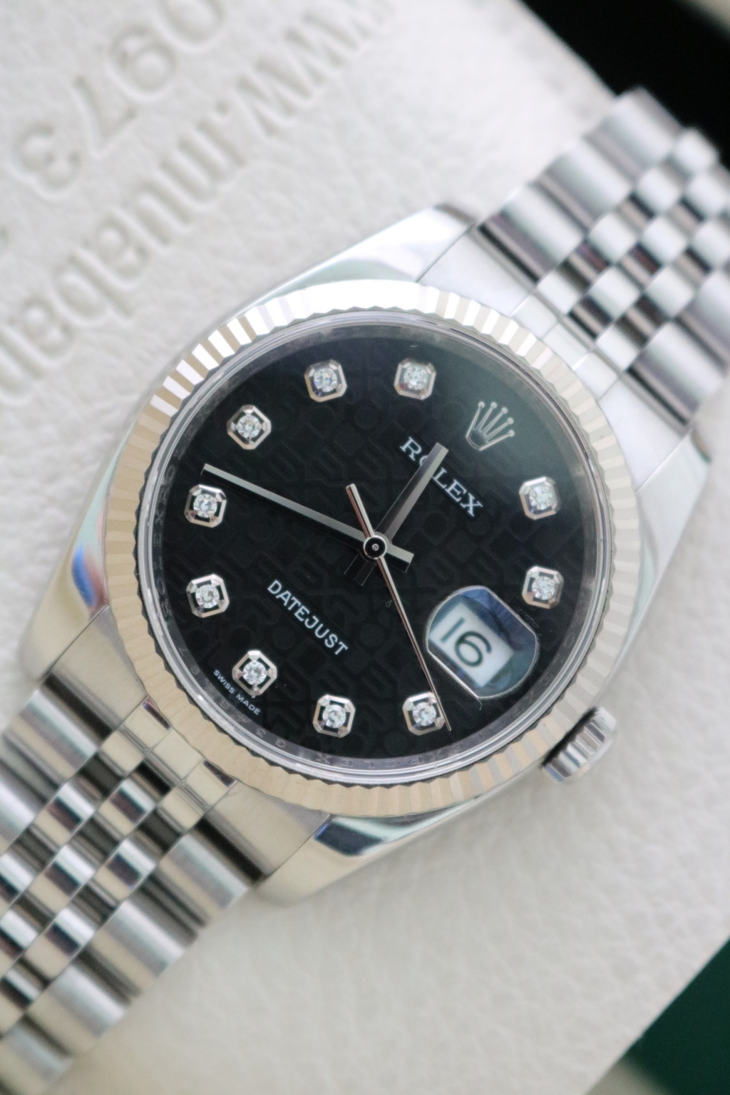 Đồng hồ rolex datejust 6 số 116234 – mặt vi tính xoàn – size 36mm
