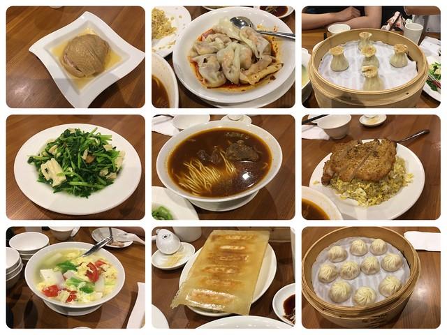 這天六個大人點了十道,少拍一道空心菜@鼎泰豐板橋大遠百店