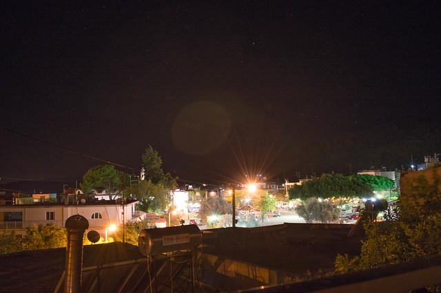 Ψίνθος - Ολιγόλεπτη διακοπή του ηλεκτρικού ρεύματος, Νυχτερινός ουρανός (13/08/17)