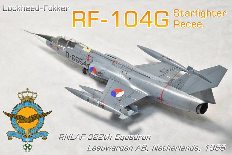 1/72 RF-104G Recee. RNLAF 322Sq.