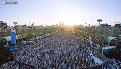 کربلا بین الحرمین میں نماز عید کا منظر