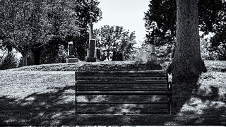 Grove Cemetery Bench