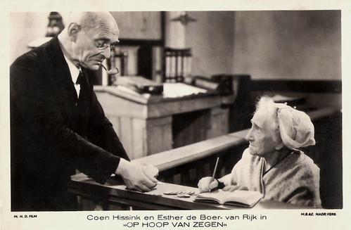 Esther de Boer van Rijk and Coen Hissink in Op hoop van zegen (1934)