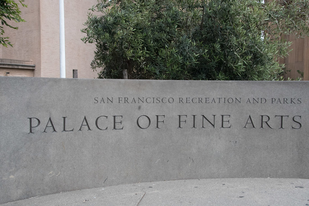 Sign for Palace of Fine Arts