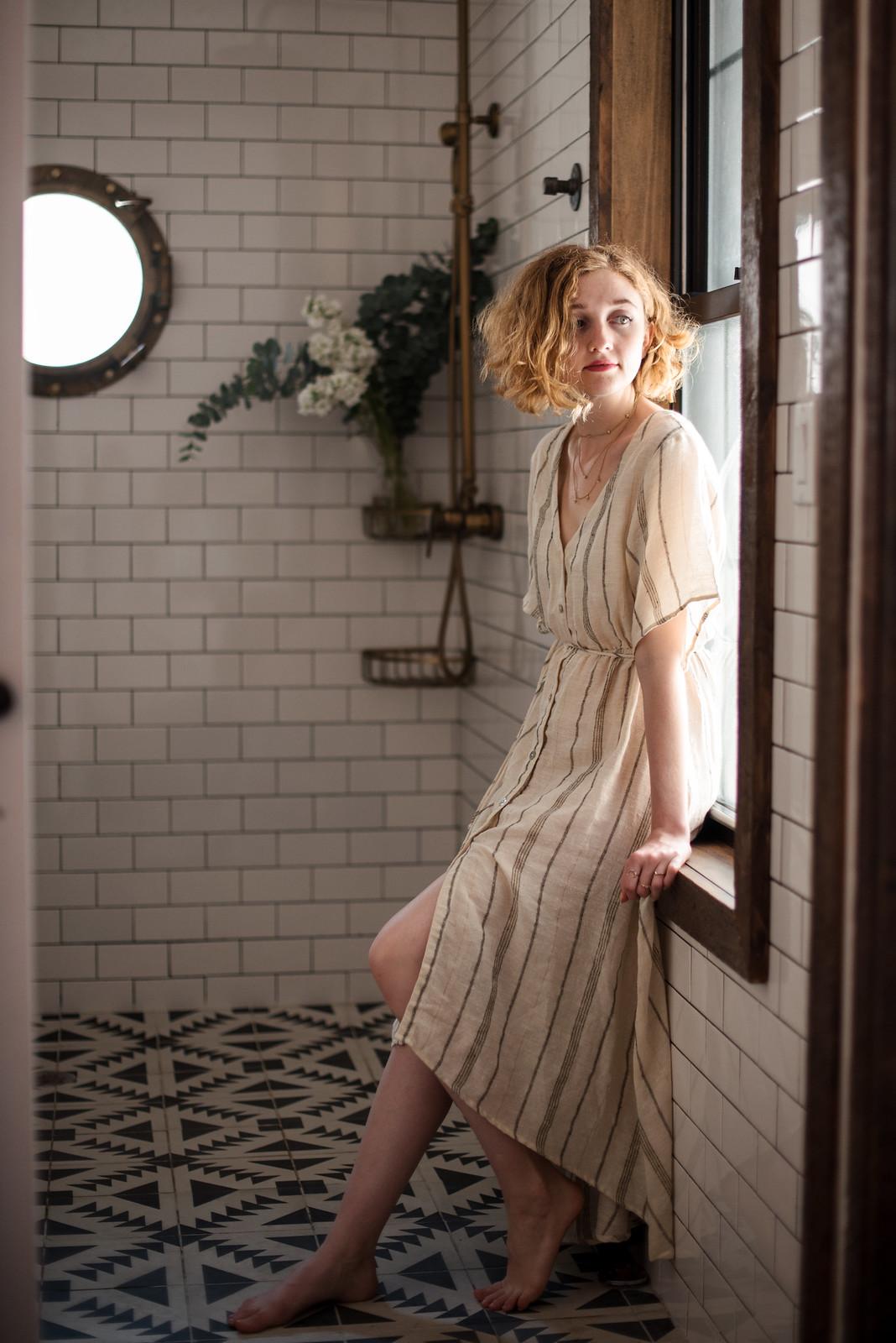 Striped Dress from Saltwater Luxe on juliettelaura.blogspot.com