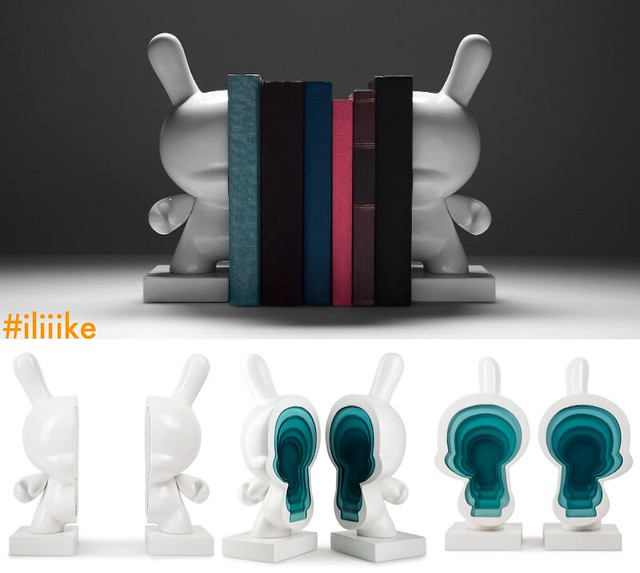 "Resin 10"" Dunny Bookends from Kidrobot"