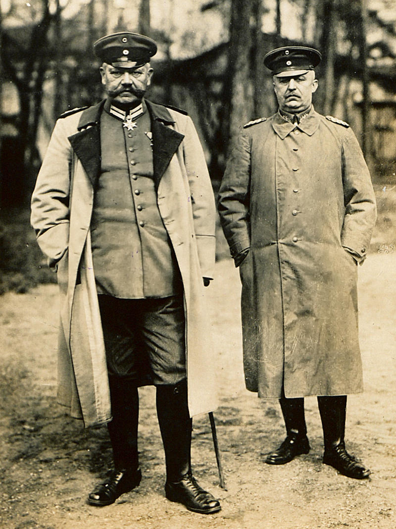 Field Marshal Paul von Hindenburg and General Erich Ludendorff, 1916