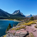 Dusty Star Mountain Towers over Saint Mary Lake in Glacier National Park by JasonianPhotography